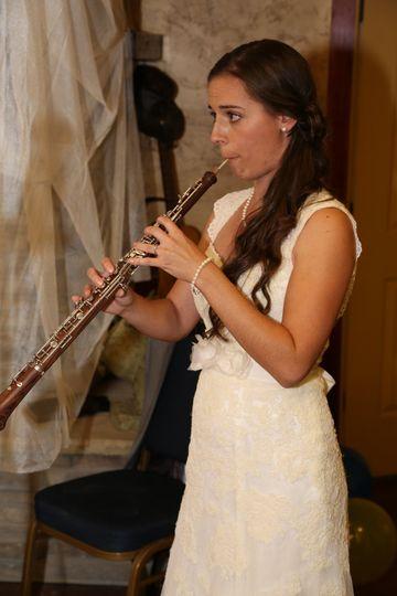 Bride on the oboe