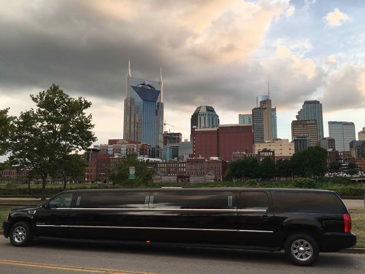 Escalade limo with tinted windows