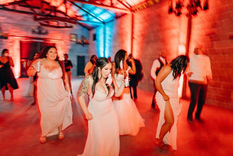 Bridesmaids love to dance!