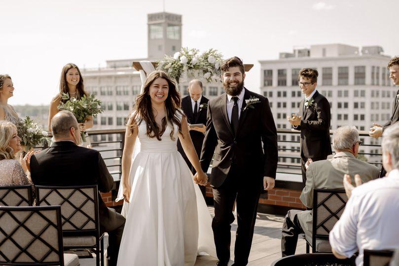 Vantage Rooftop wedding
