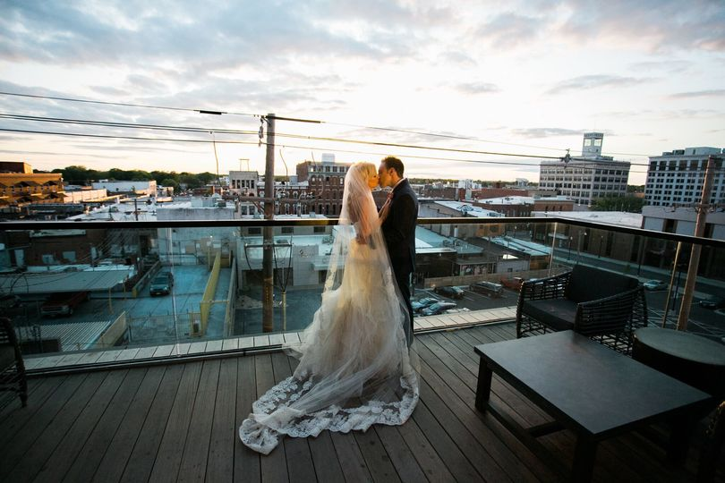 Couple photo by the rooftop