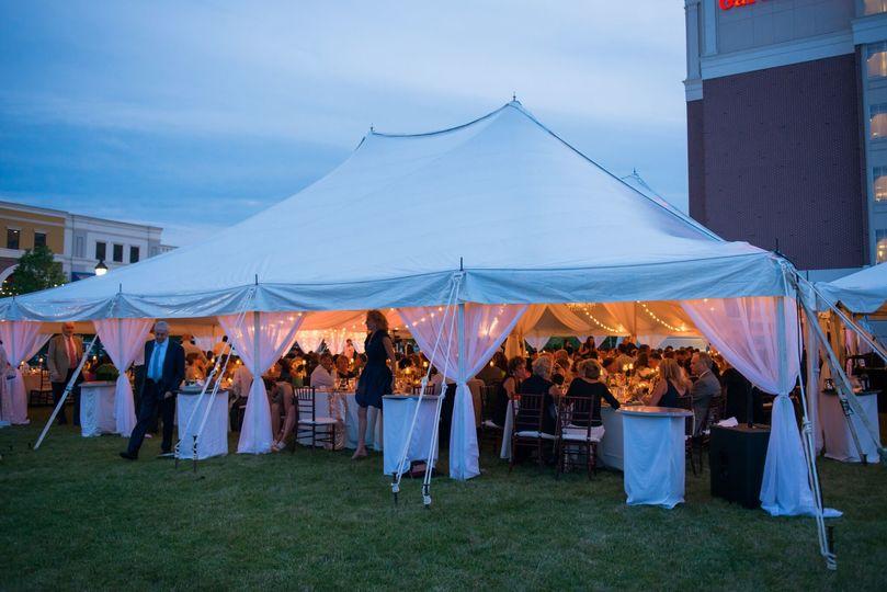 Tent illuminated