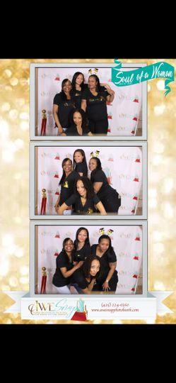 Awe Snap photo Booth team