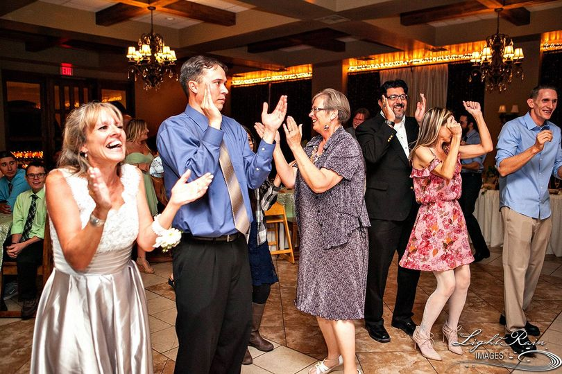 Wedding guests are enjoying a formality and are also involved in the fun. Arizona Mobile DJ
