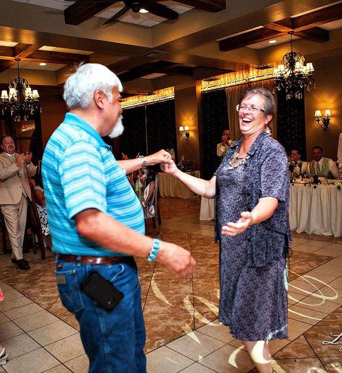 A happy couple enjoying their time together on the dancefloor! Arizona Mobile DJ