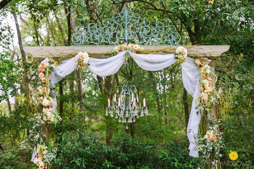 Secret Garden Bridal Arch with Chandelier