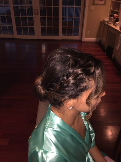 Wedding party updo