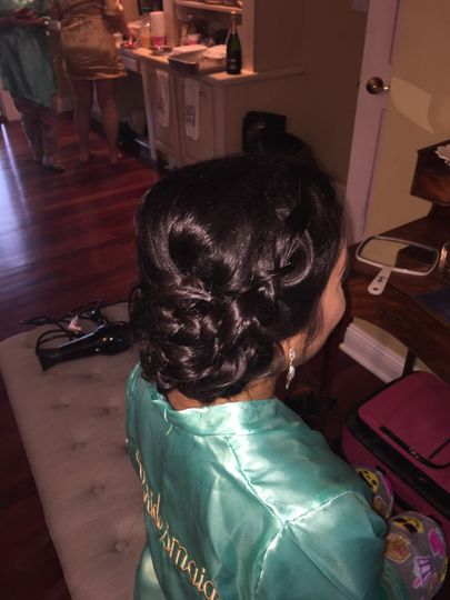 Plated updo