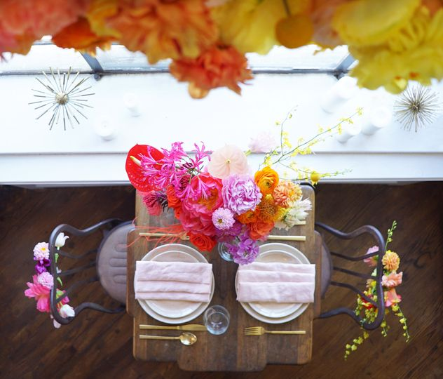 Sweetheart table overhead