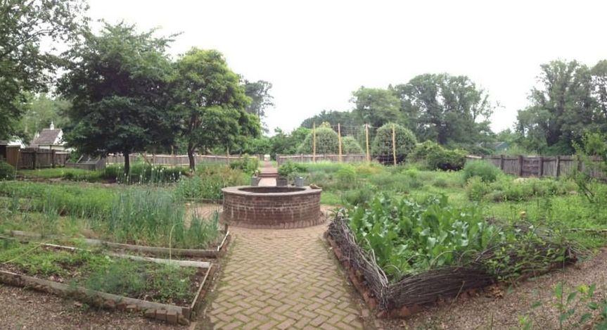 Vegetable area of Pennsbury Manor