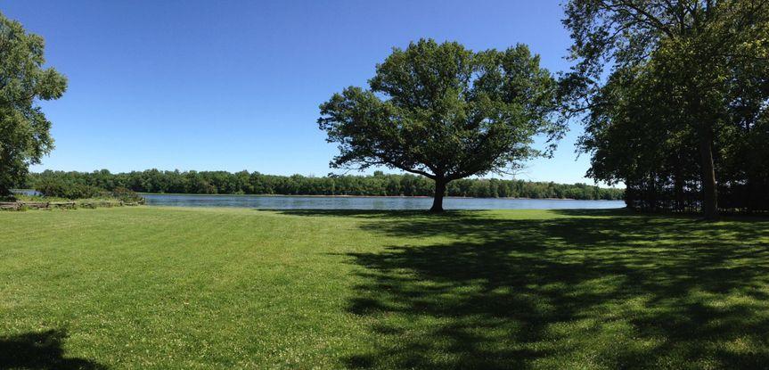 Lawn area of Pennsbury Manor