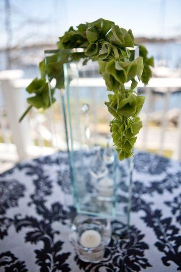 Leafy table decor