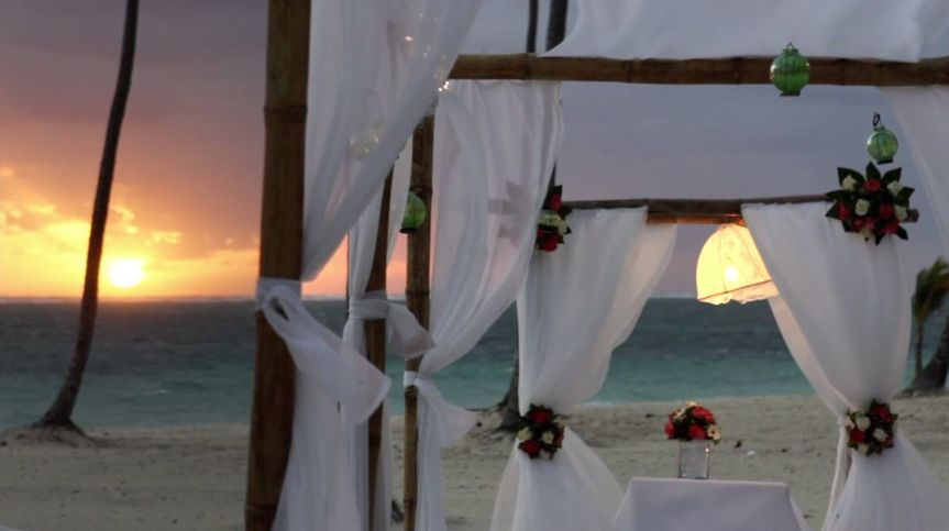 Sunrise ceremony on the beach, at Jellyfish Restaurant in Punta Cana, Dominican Republic