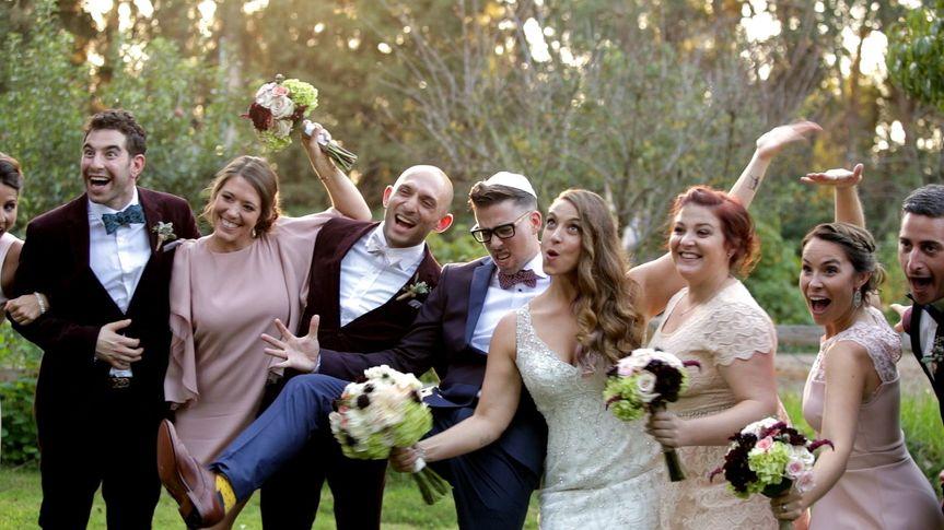 laurynandrew weddingpartyfunny