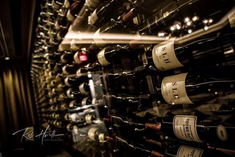 Wine Case at Ruth's Cris