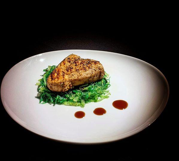 Marinated grilled swordfish