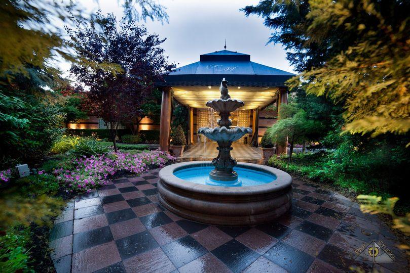 Beautiful fountain entrance