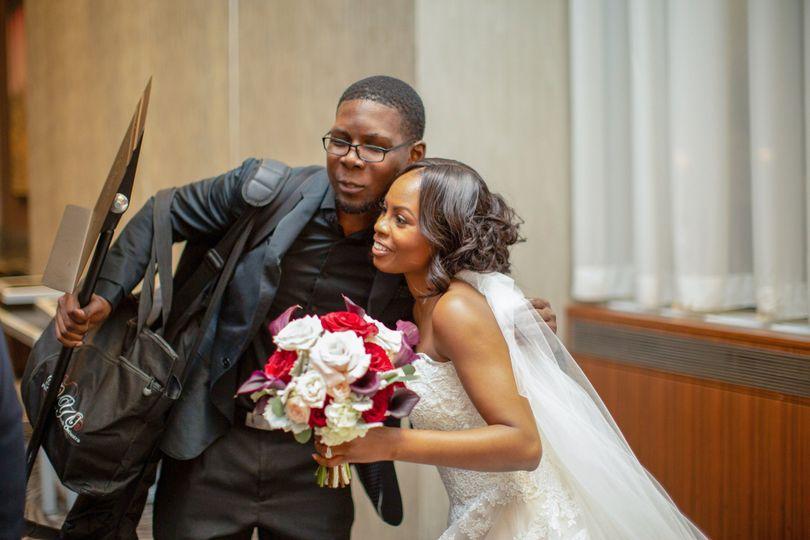 Post-Performance Bride Photo