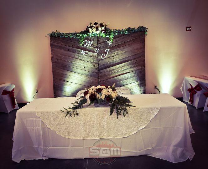 Uplighting the main table