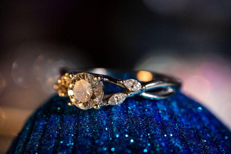 Wedding ring detail