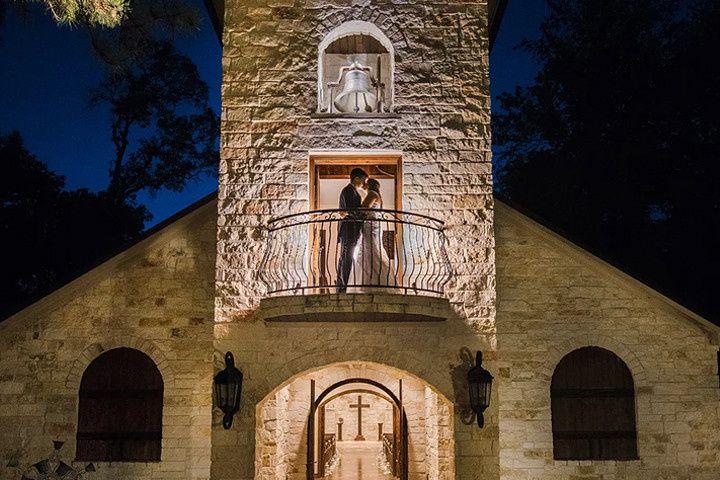 Kiss on Chapel Balcony