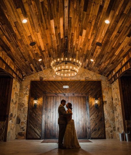 Couple on Barn Front Porch