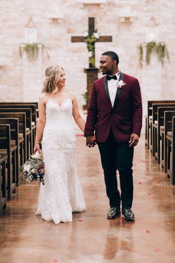 Couple on the Chapel Aisle