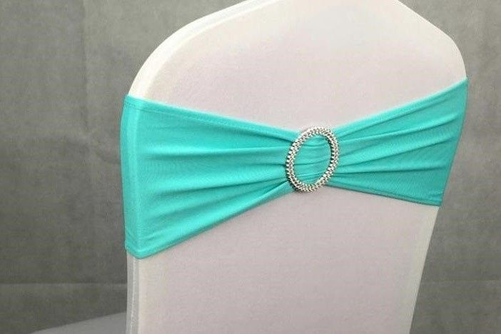 Turquoise chair bands