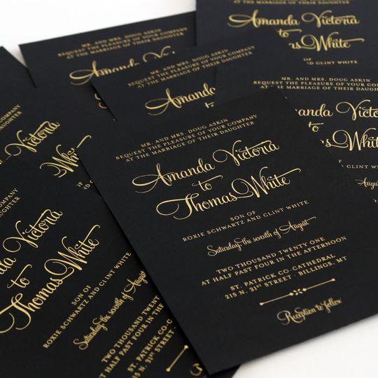 Gold Fold on Black Cardstock
