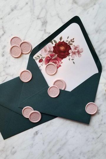 Custom Envelopes + Wax Seals