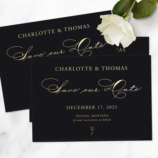 Gold Foil on Black Cardstock
