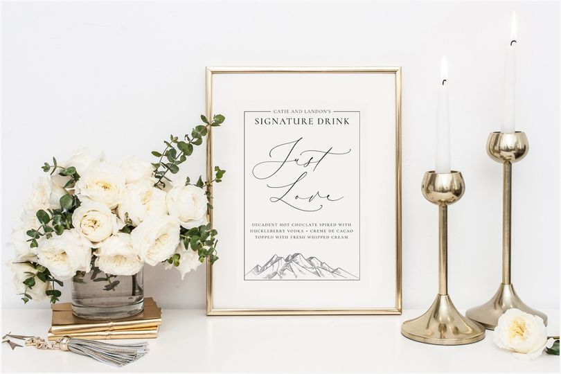Signature Drink Sign
