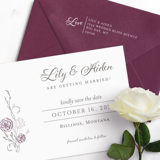 Lily Suite - Save the Date