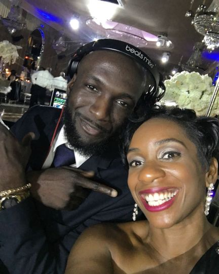 Jessica with the DJ