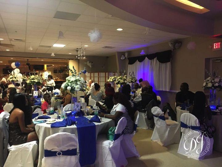 Behind bride & groom uplight