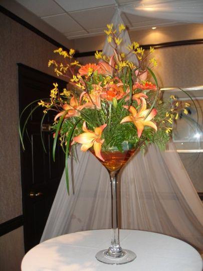 Martini Glass Arrangement