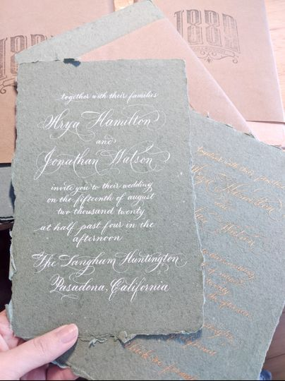 Mayumi Script Invitation