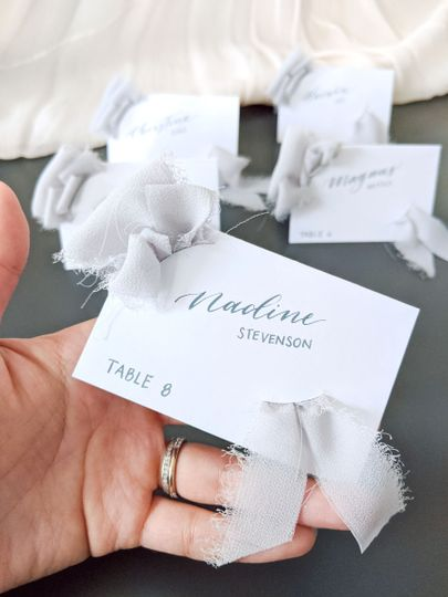 Exciting new place card design