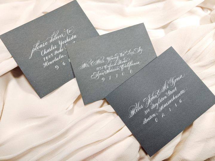 Tmx Brie And Ink Envelope Addressing Mayumi Font 51 1901011 158147495320243 Los Angeles, CA wedding invitation
