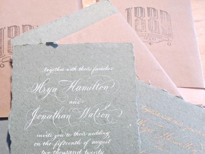 Tmx Brie And Ink Handmade Paper Invitation 51 1901011 158147495425569 Los Angeles, CA wedding invitation