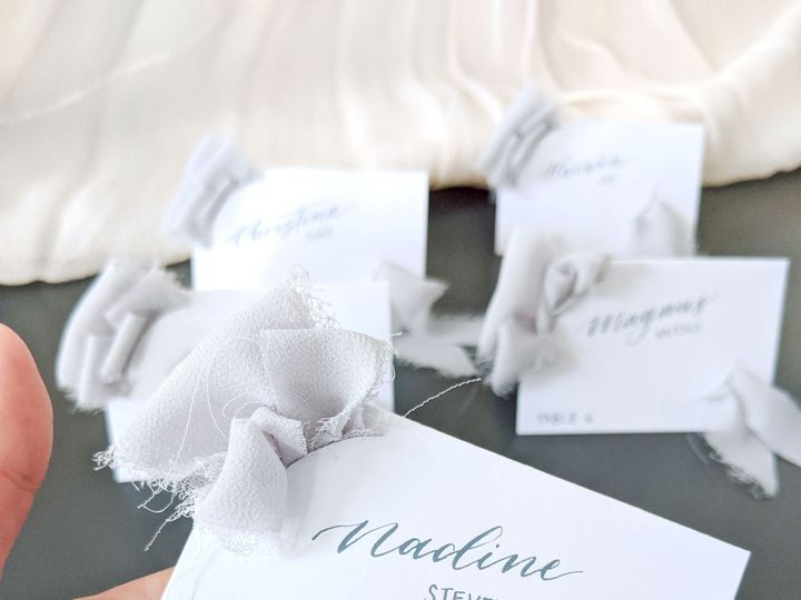 Tmx Brie And Ink Ribbon Escort Card Step 6 51 1901011 158222739080239 Los Angeles, CA wedding invitation