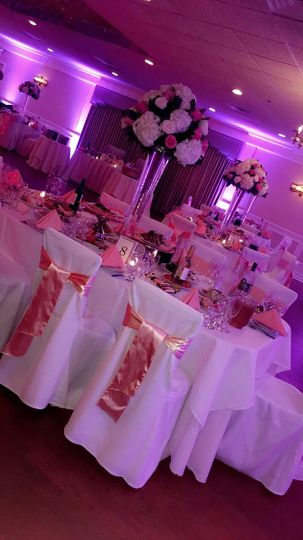 Pink decor and lighting