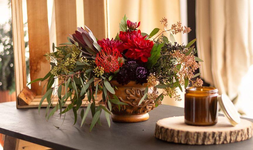 Centerpiece in vintage vase