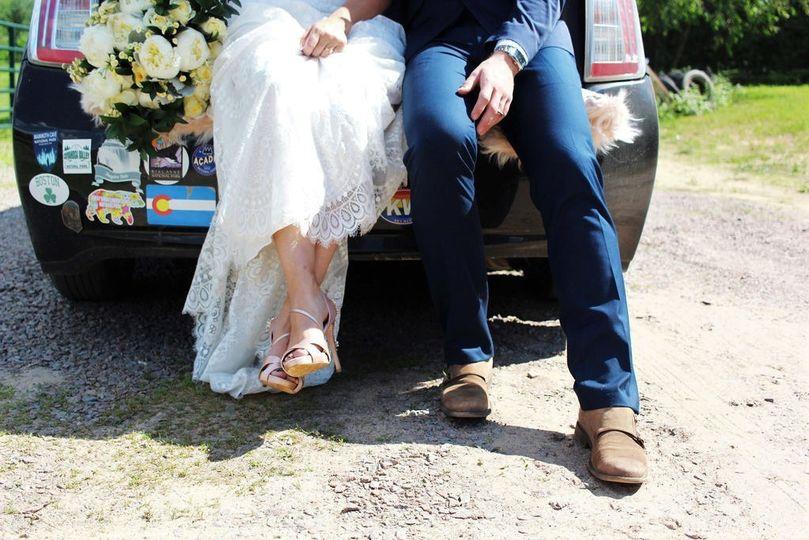 Burlap and bells wedding