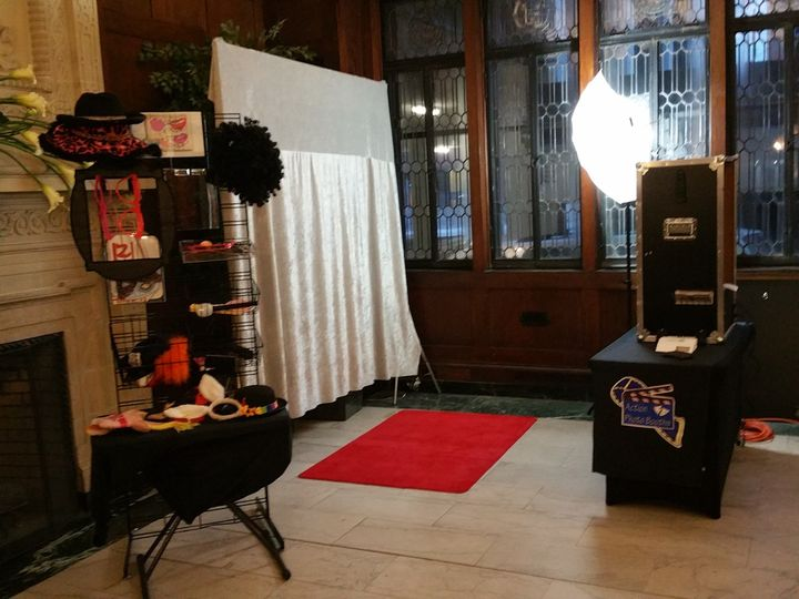 Open air booth setup