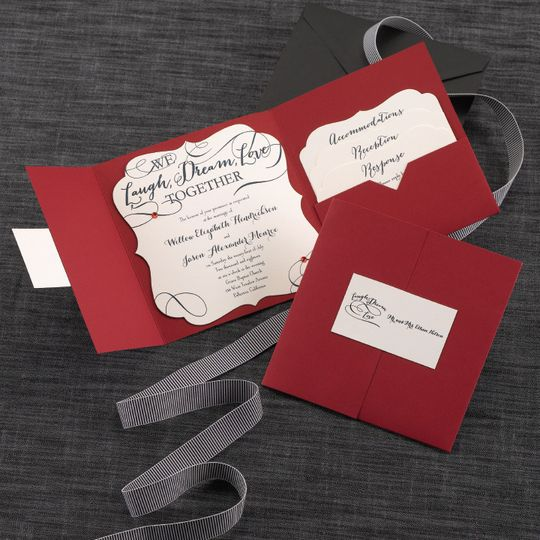 Whimsical Pocket Invitation