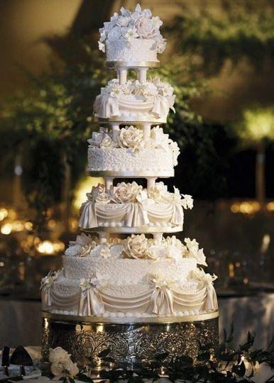 Five-tier cake