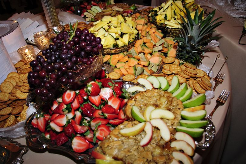 Fruit Presentation with Baked Brie