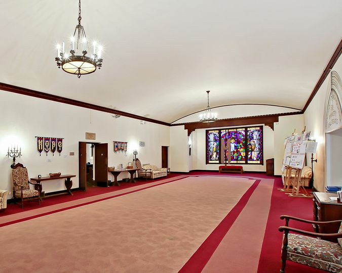 The Narthex from which the sanctuary is entered.