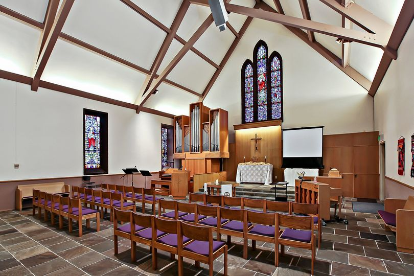 The earthy chapel is available for smaller, more intimate ceremonies.
